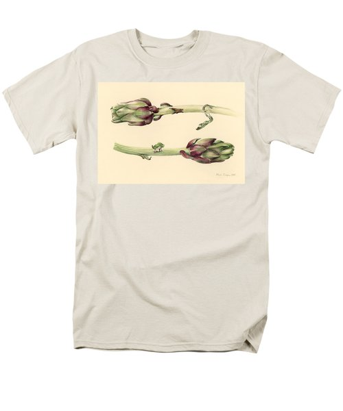 Artichokes Men's T-Shirt  (Regular Fit) by Alison Cooper