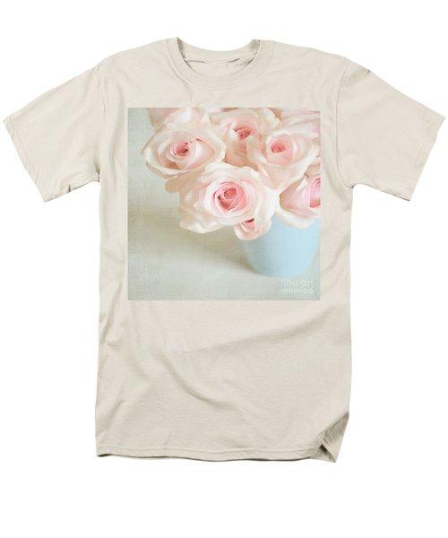 Baby Pink Roses Men's T-Shirt  (Regular Fit) by Lyn Randle