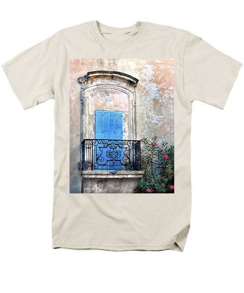 Men's T-Shirt  (Regular Fit) featuring the photograph Balcony Provence France by Dave Mills