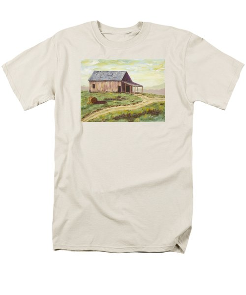 Barn On The Ridge Men's T-Shirt  (Regular Fit) by Alan Mager