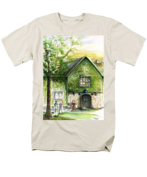 Men's T-Shirt  (Regular Fit) featuring the painting Bass Fiddle At Ford Gala II by Bernadette Krupa