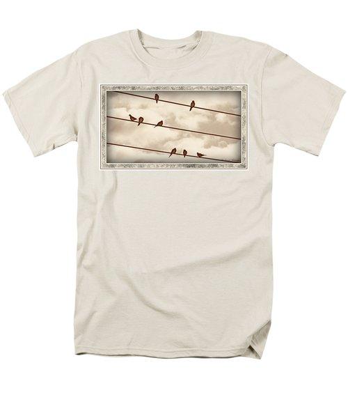 Birds On Wires Men's T-Shirt  (Regular Fit) by Susan Kinney