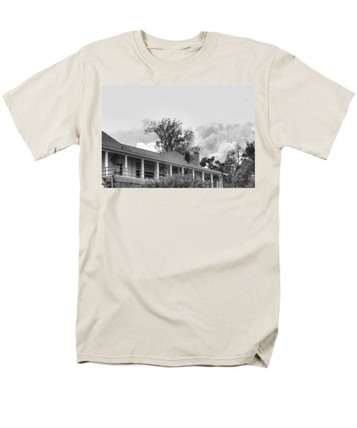 Men's T-Shirt  (Regular Fit) featuring the photograph Black And White Delaware Casino by Michael Frank Jr