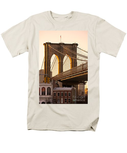 Men's T-Shirt  (Regular Fit) featuring the photograph Brooklyn Bridge - New York by Luciano Mortula