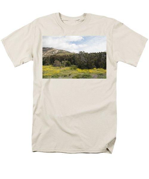 California Hillside View IIi Men's T-Shirt  (Regular Fit) by Kathleen Grace