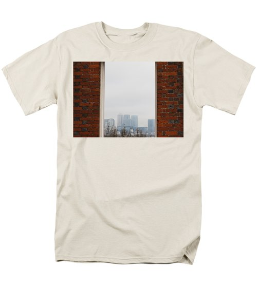Men's T-Shirt  (Regular Fit) featuring the photograph Canary Wharf View by Maj Seda
