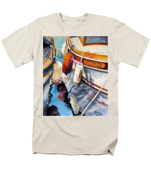 Men's T-Shirt  (Regular Fit) featuring the painting Cassis Castaways by Rae Andrews