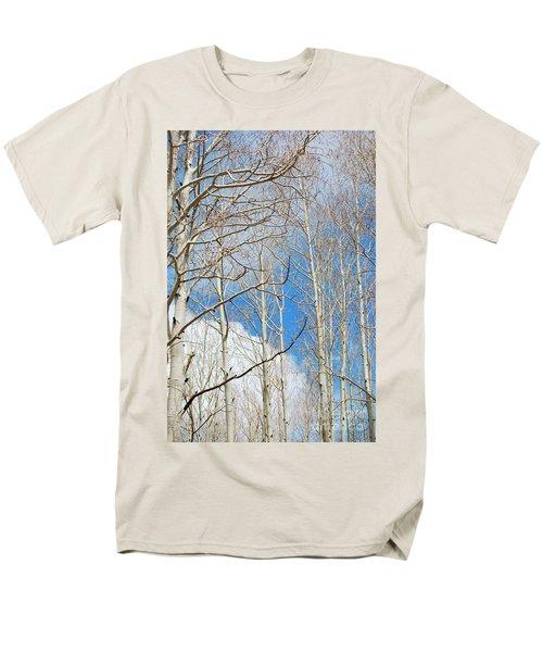 Cloudy Aspen Sky Men's T-Shirt  (Regular Fit) by Donna Greene