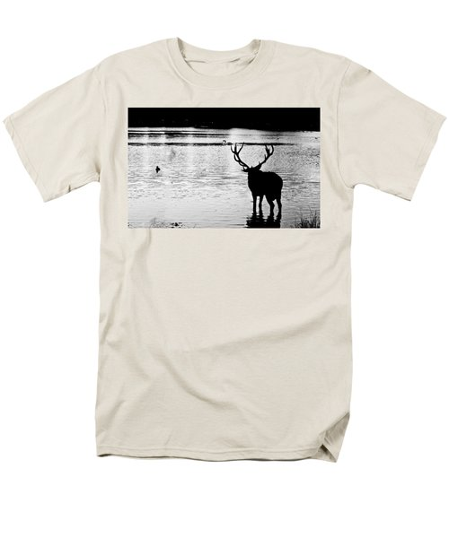 Men's T-Shirt  (Regular Fit) featuring the photograph Cooling Off Deer by Maj Seda