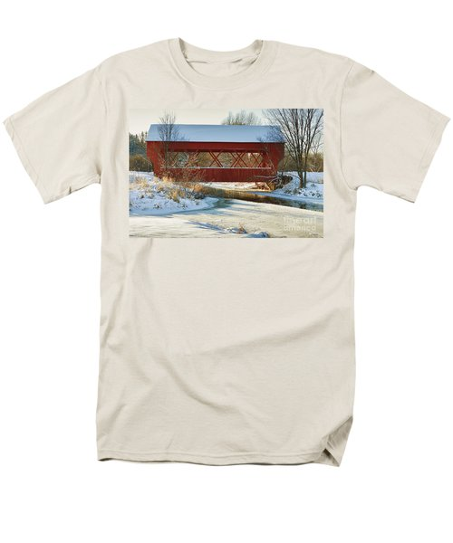 Covered Bridge Men's T-Shirt  (Regular Fit) by Eunice Gibb