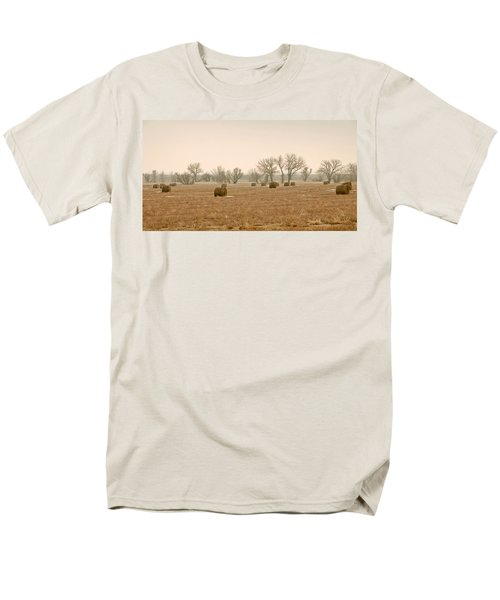 Earlying Morning Hay Bails Men's T-Shirt  (Regular Fit) by James Steele