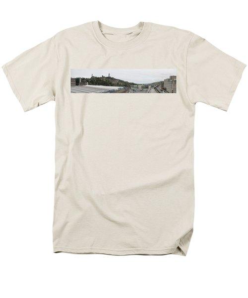 Edinburgh Station Panorama Men's T-Shirt  (Regular Fit) by Ian Kowalski