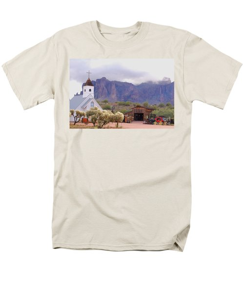 Men's T-Shirt  (Regular Fit) featuring the photograph Elvis Memorial Chapel by Tam Ryan