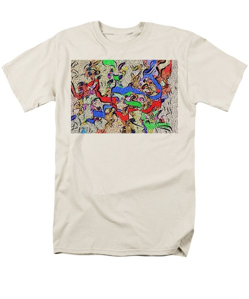 Men's T-Shirt  (Regular Fit) featuring the digital art Fabric Of Life by Alec Drake