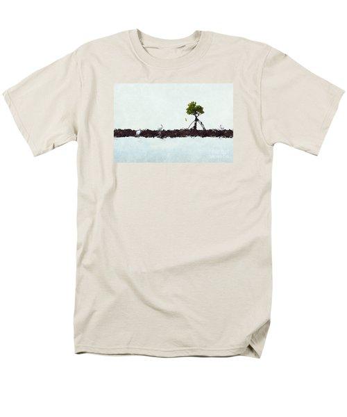 Men's T-Shirt  (Regular Fit) featuring the photograph Falling Mangrove Leaf by Dan Friend