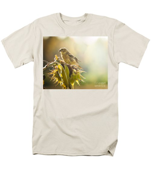 Men's T-Shirt  (Regular Fit) featuring the photograph Finch Aglow by Cheryl Baxter