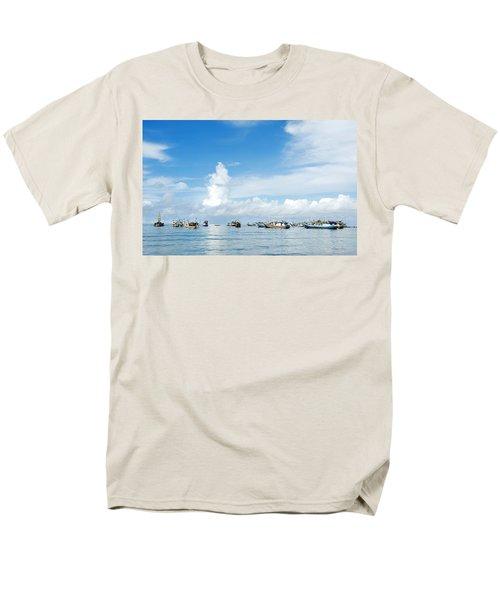Fishing Boat Men's T-Shirt  (Regular Fit) by Yew Kwang