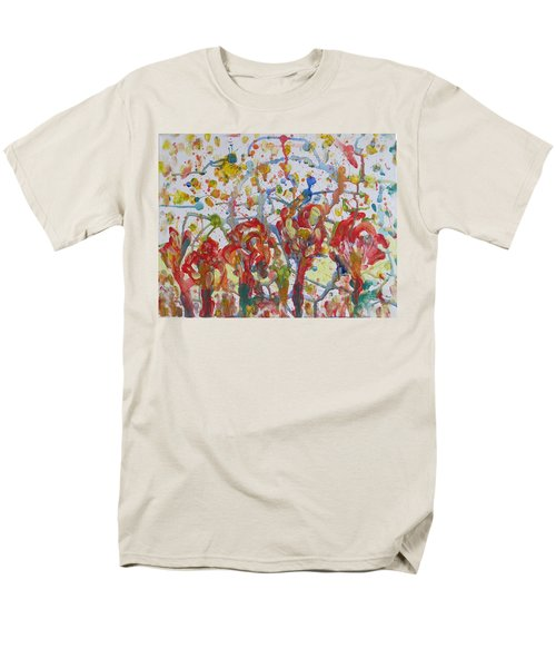 Men's T-Shirt  (Regular Fit) featuring the painting Floral Feel by Sonali Gangane