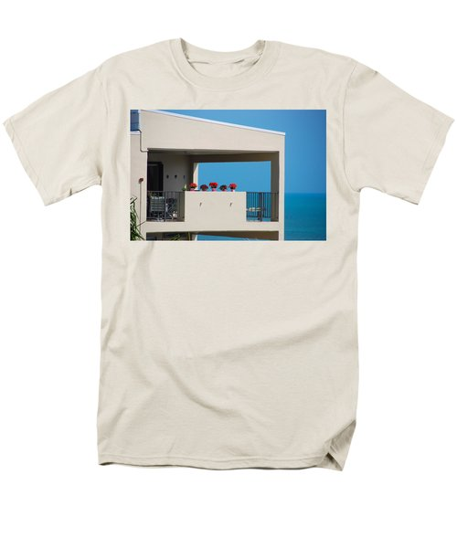 Men's T-Shirt  (Regular Fit) featuring the photograph Flower Pots Five by John Schneider