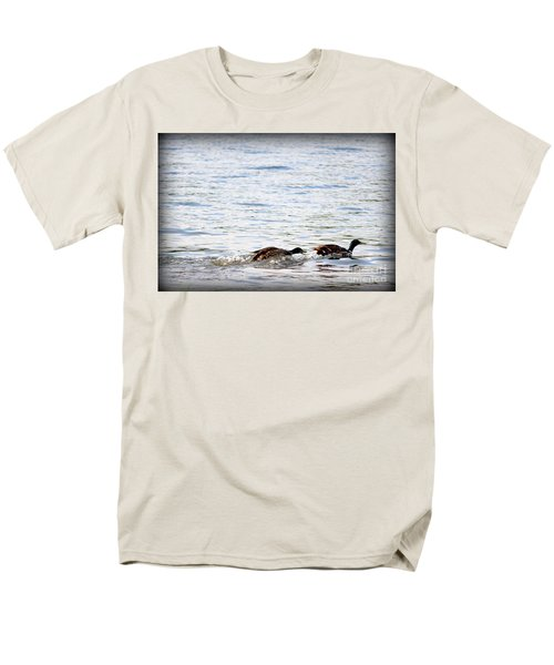 Men's T-Shirt  (Regular Fit) featuring the photograph Frolicking Fun by Kathy  White