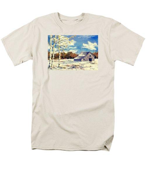 Grandma's Barn Men's T-Shirt  (Regular Fit) by Lou Ann Bagnall