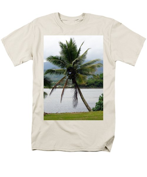Hawaiian Palm Men's T-Shirt  (Regular Fit) by Athena Mckinzie