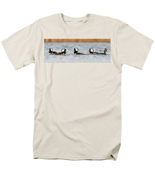 Hooded Mergansers Men's T-Shirt  (Regular Fit) by Mircea Costina Photography
