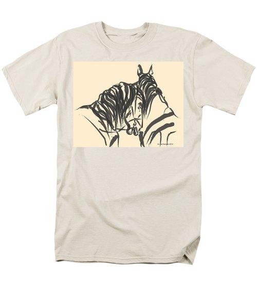 Horse - Together 9 Men's T-Shirt  (Regular Fit) by Go Van Kampen