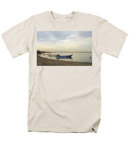 Men's T-Shirt  (Regular Fit) featuring the digital art La Paz Waterfront by Anne Mott