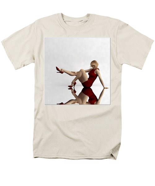 Men's T-Shirt  (Regular Fit) featuring the digital art Lady In Red... by Tim Fillingim