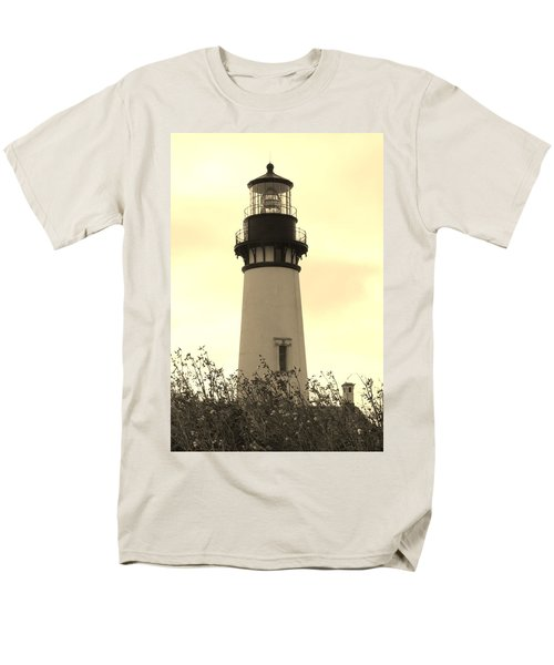 Men's T-Shirt  (Regular Fit) featuring the photograph Lighthouse Tranquility by Athena Mckinzie