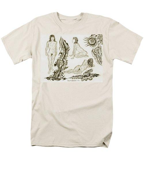 Live Nude 17 Female Men's T-Shirt  (Regular Fit) by Robert SORENSEN