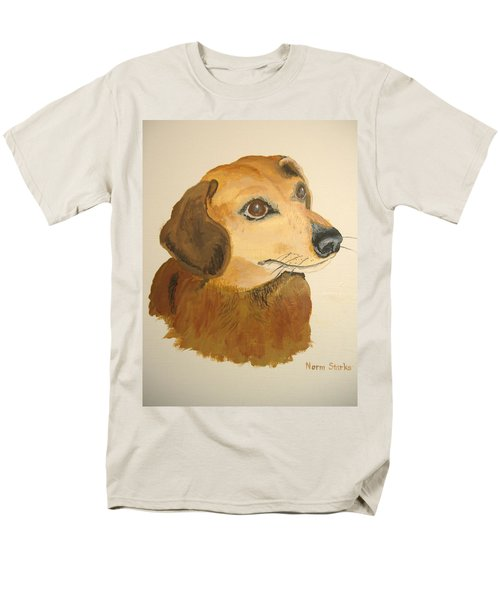 Men's T-Shirt  (Regular Fit) featuring the painting Lovable Dachshund by Norm Starks