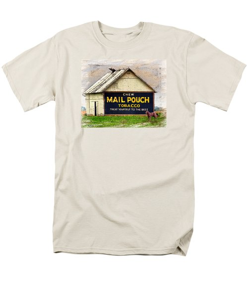 Men's T-Shirt  (Regular Fit) featuring the digital art Mail Pouch Barn by Mary Almond