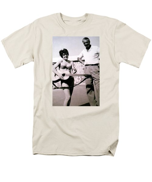 Mama Chris And Gary Cooper In Monte Carlo 1958 Men's T-Shirt  (Regular Fit) by Colette V Hera  Guggenheim