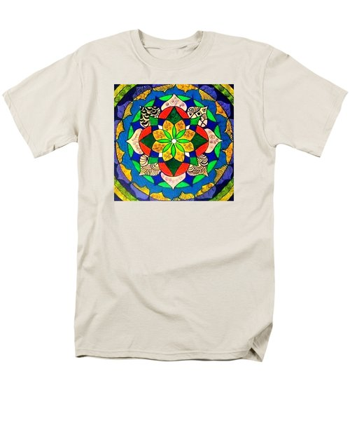 Mandala Circle Of Life Men's T-Shirt  (Regular Fit) by Sandra Lira