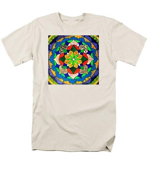 Mandala Circle Of Life Men's T-Shirt  (Regular Fit)