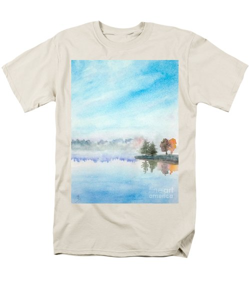 Misty Lake Men's T-Shirt  (Regular Fit) by Yoshiko Mishina