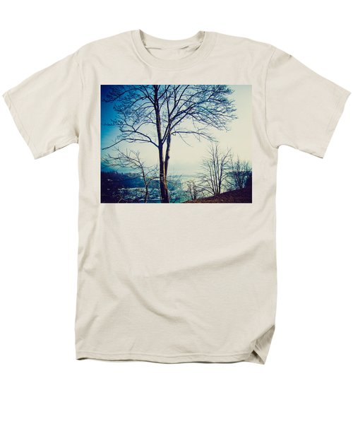 Men's T-Shirt  (Regular Fit) featuring the photograph Mystic Blue by Sara Frank