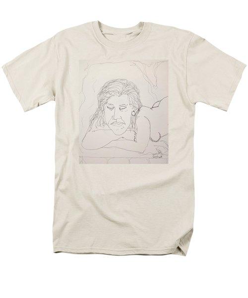 Nude Contour In Ink Men's T-Shirt  (Regular Fit)