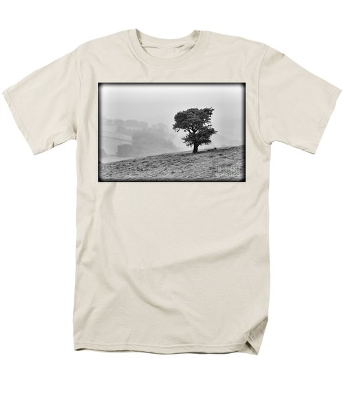 Men's T-Shirt  (Regular Fit) featuring the photograph Oak Tree In The Mist. by Clare Bambers