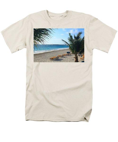 Men's T-Shirt  (Regular Fit) featuring the photograph Orient Beach St Maarten by Catie Canetti
