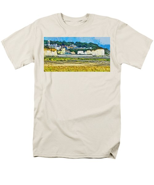 Men's T-Shirt  (Regular Fit) featuring the digital art Pegwell Bay by Steve Taylor