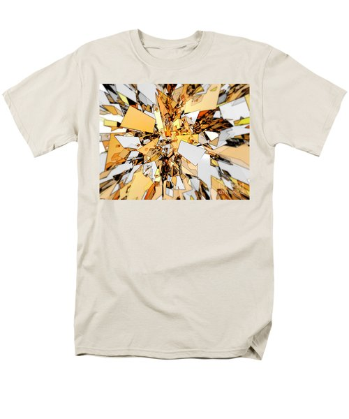 Men's T-Shirt  (Regular Fit) featuring the digital art Pieces Of Gold by Phil Perkins