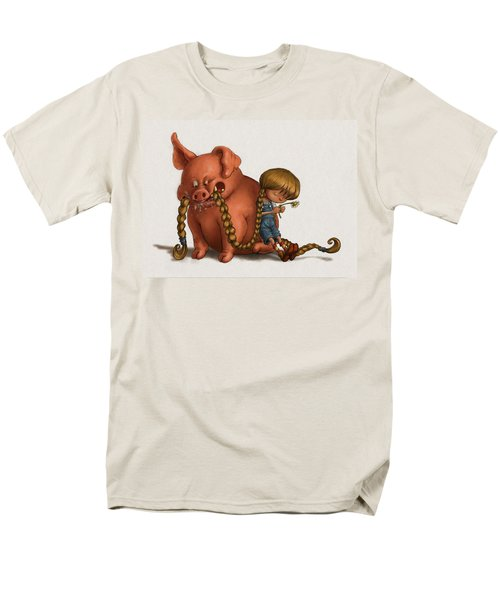 Pig Tales Chomp Men's T-Shirt  (Regular Fit) by Andy Catling
