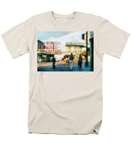 Pike Place Market Men's T-Shirt  (Regular Fit) by Michelle Calkins