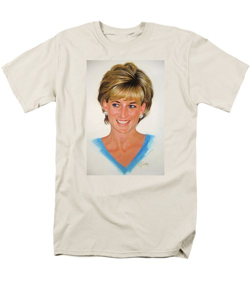 Men's T-Shirt  (Regular Fit) featuring the painting Princess Diana by Cliff Spohn