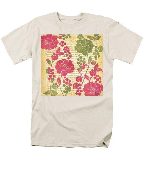 Raspberry Sorbet Floral 2 Men's T-Shirt  (Regular Fit) by Debbie DeWitt