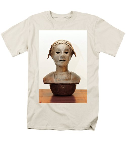 Roman Mask Torso Lady With Head Cover Face Eyes Large Nose Mouth Shoulders Men's T-Shirt  (Regular Fit) by Rachel Hershkovitz