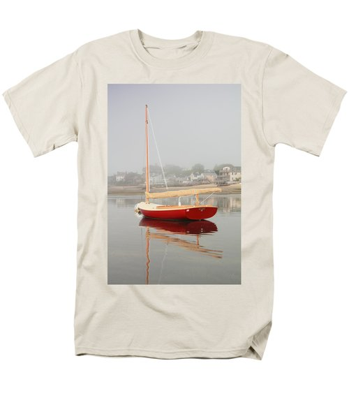 Ruby Red Catboat Men's T-Shirt  (Regular Fit) by Roupen  Baker